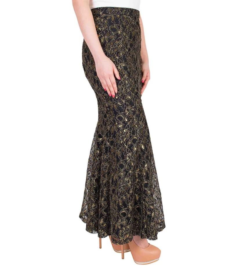 Elegance Aglow Mermaid Skirt In Gold-1